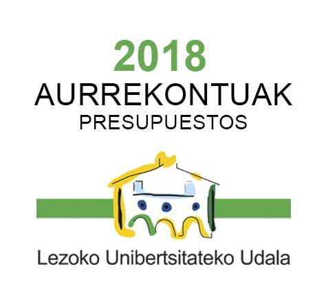 Aurrekontuak 2018