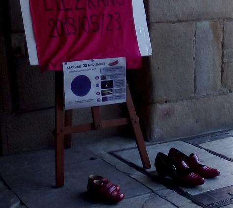 Zapata gorriak indarkeria sexistaren aurka